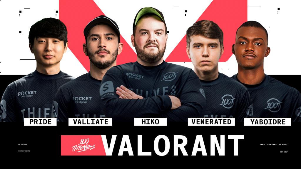 100 Thieves Valorant Team