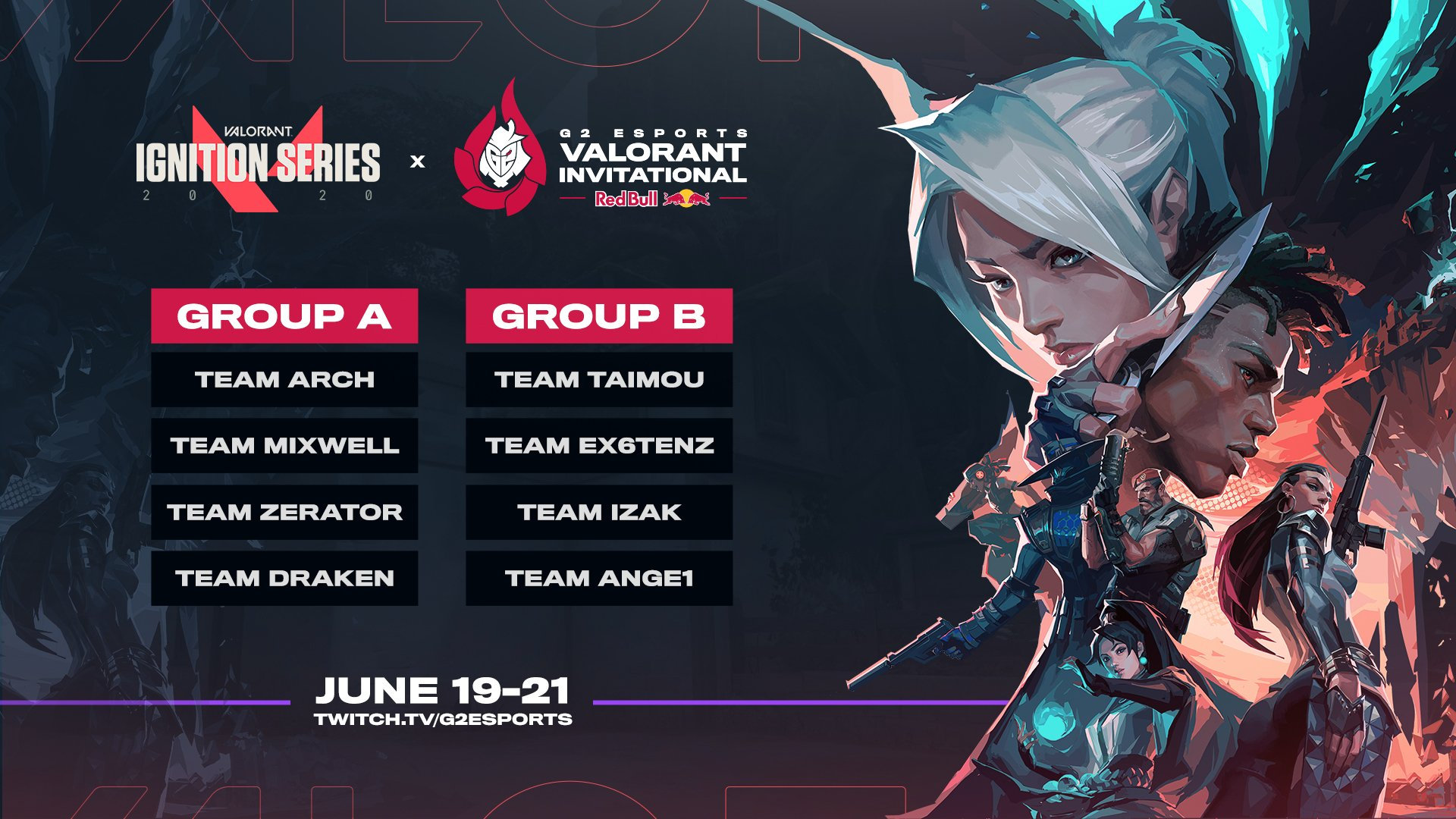 G2 Esports Valorant Invitational – Groups Announced