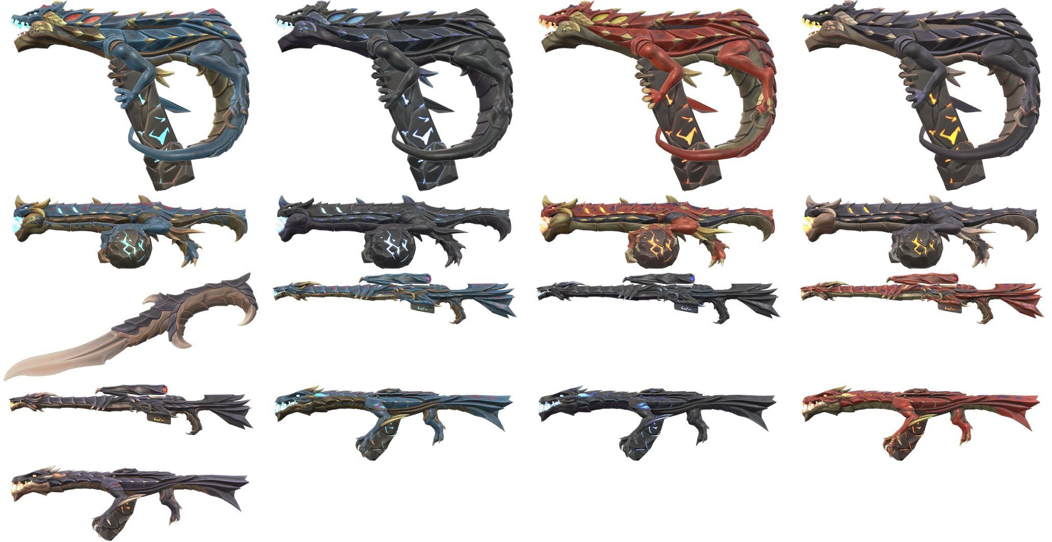 "First peek at Valorant's new ""Elderflame"" skin variants (including a new knife)"