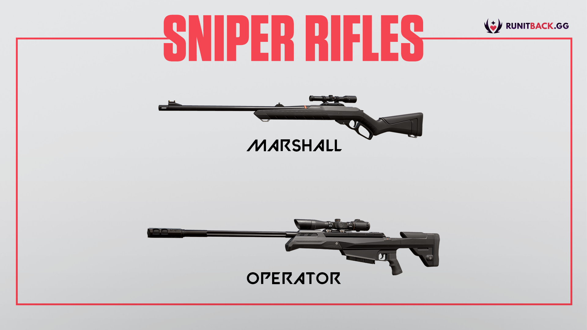Valorant Weapon Guide: Sniper Rifles