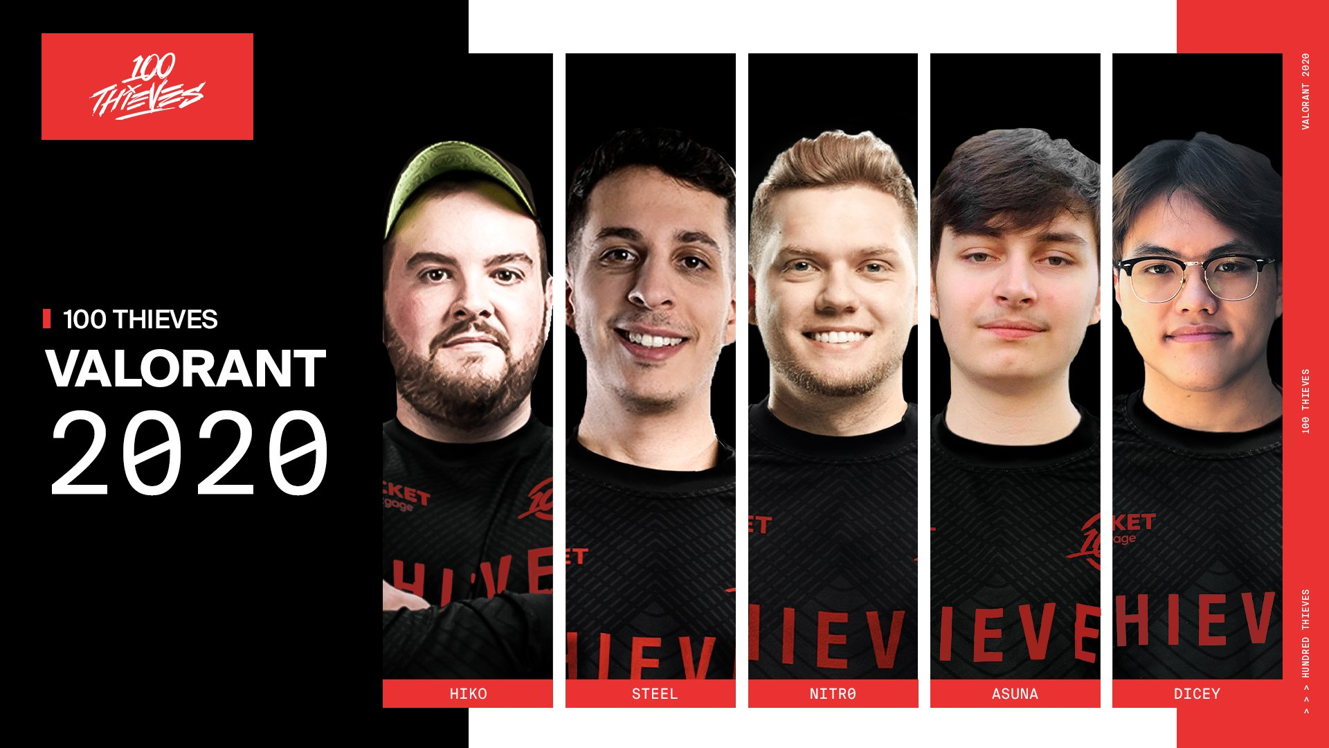 100 Thieves completes Valorant roster by adding Asuna and dicey