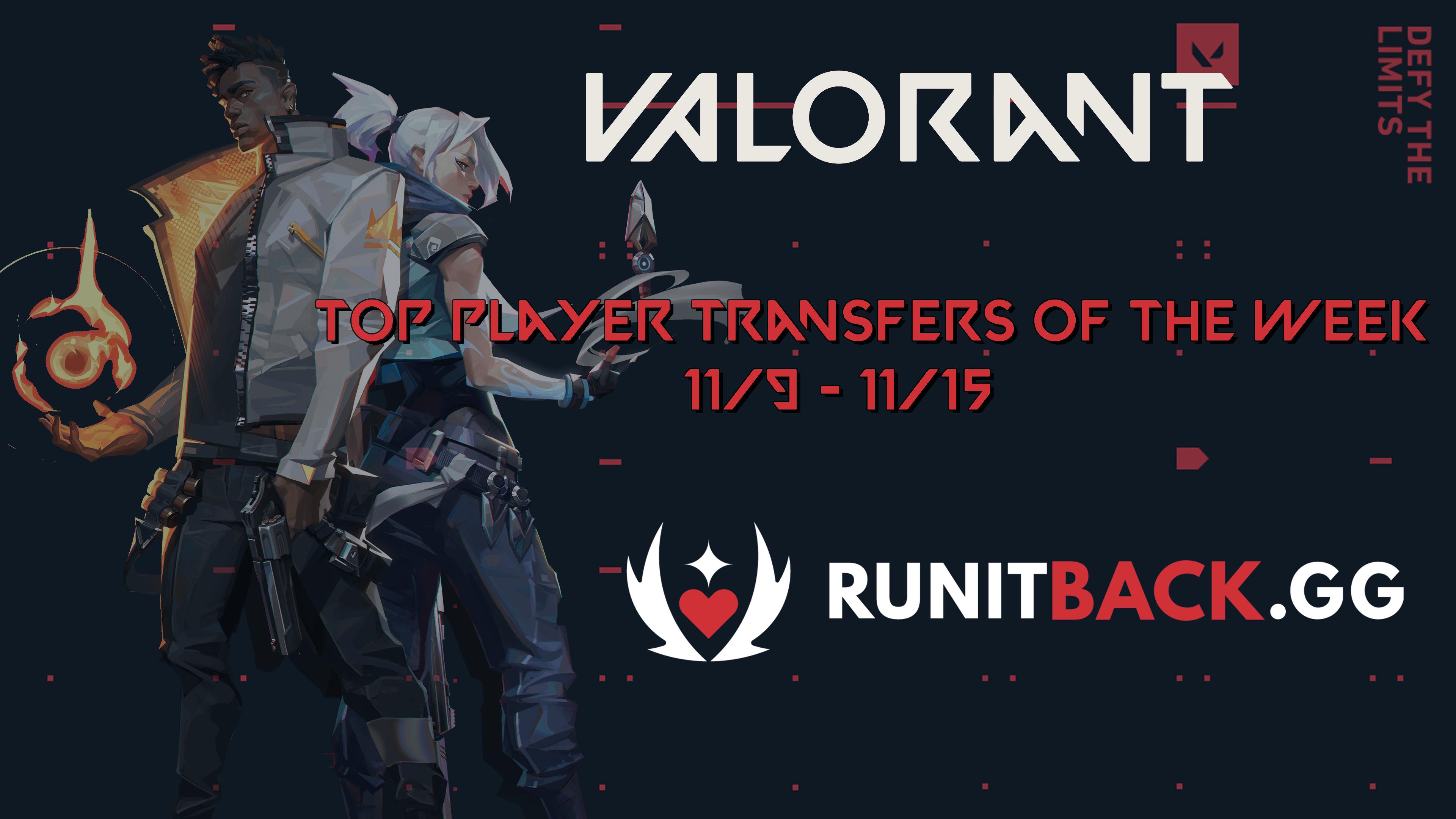 Top Player Transfers of the Week: November 9 – November 15