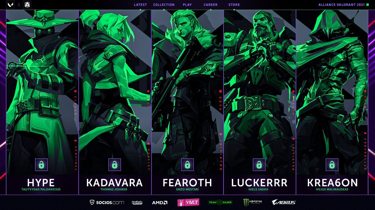 Alliance finalize Valorant roster with four new players