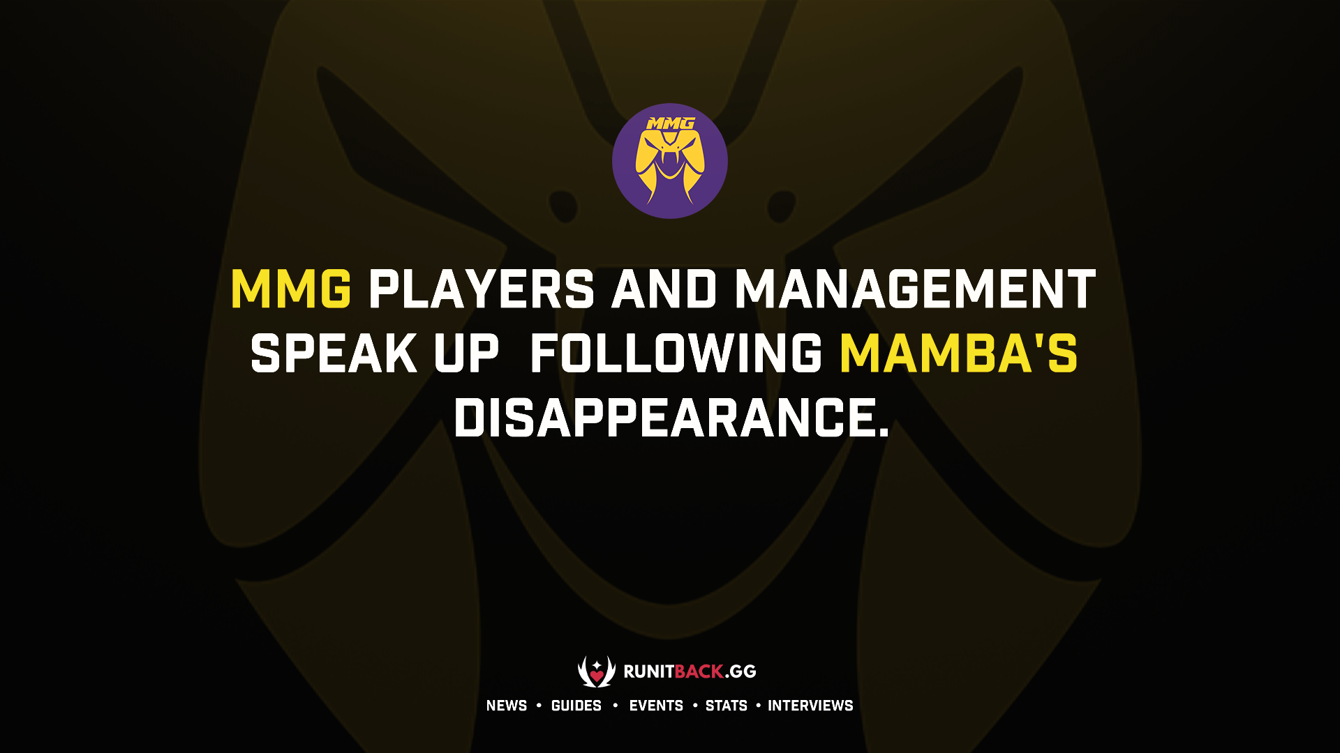 Exclusive: MMG players and management speak up following mamba's disappearance