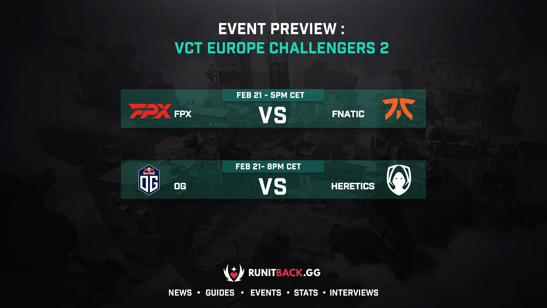 VCT Europe Challengers 2 Day 2 Preview: Fnatic and Heretics looking to bounce back