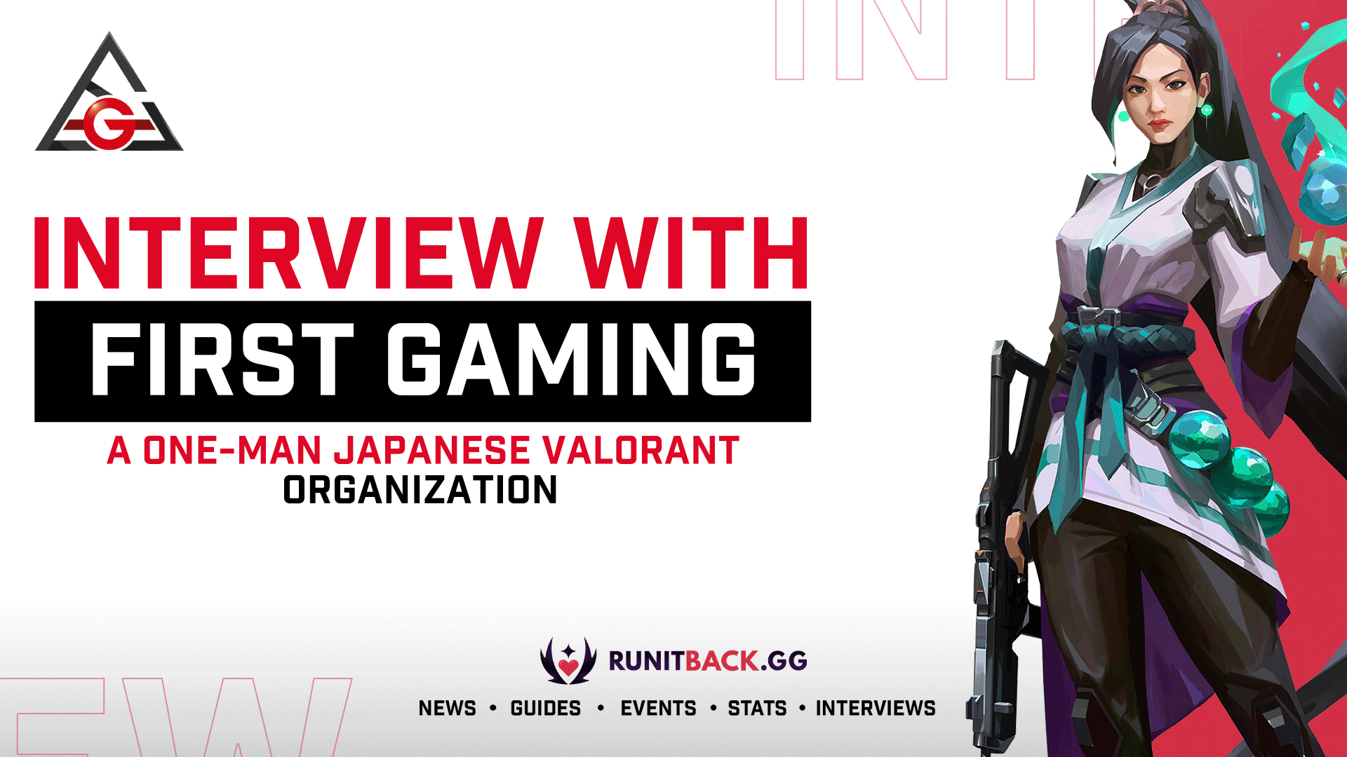 Interview with FIRST Gaming, a one-man Japanese Valorant organization