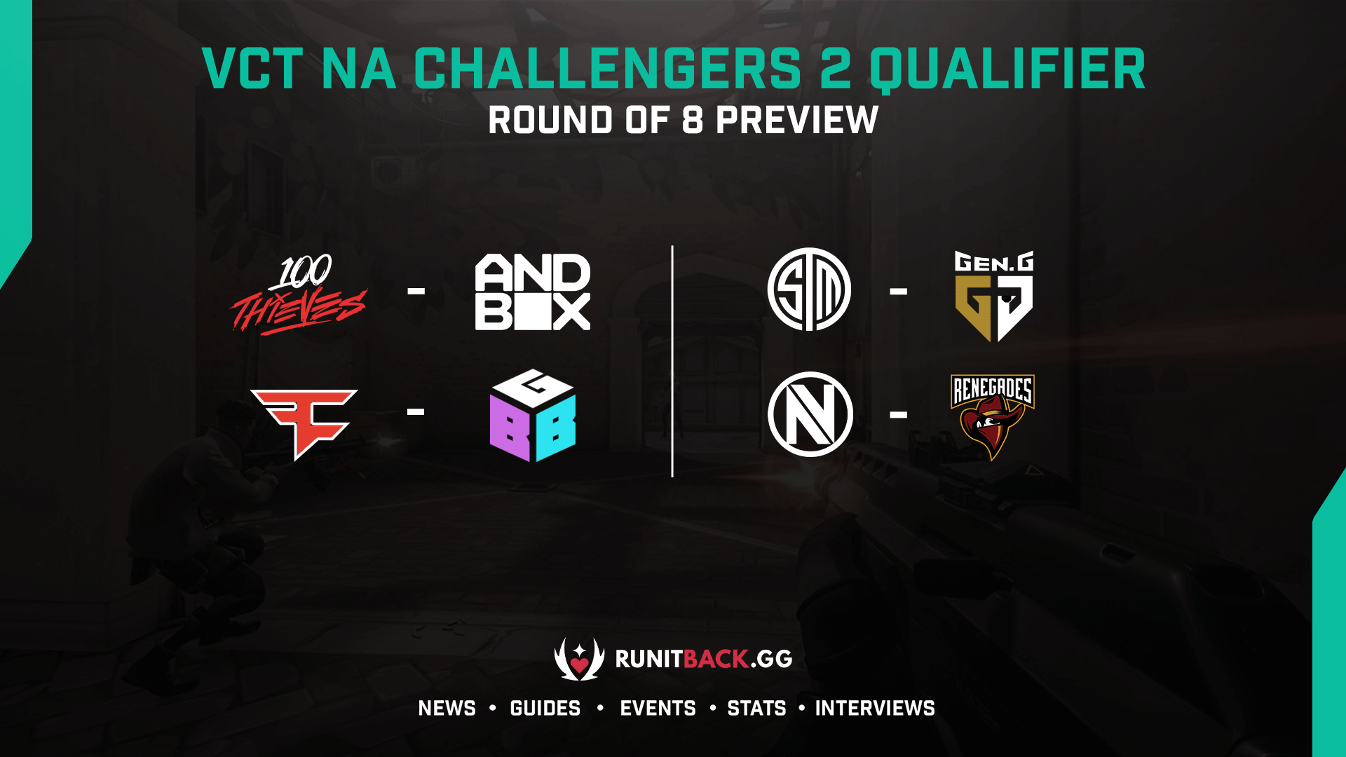 VCT NA Challengers 2 Qualifier: Round of 8 Preview