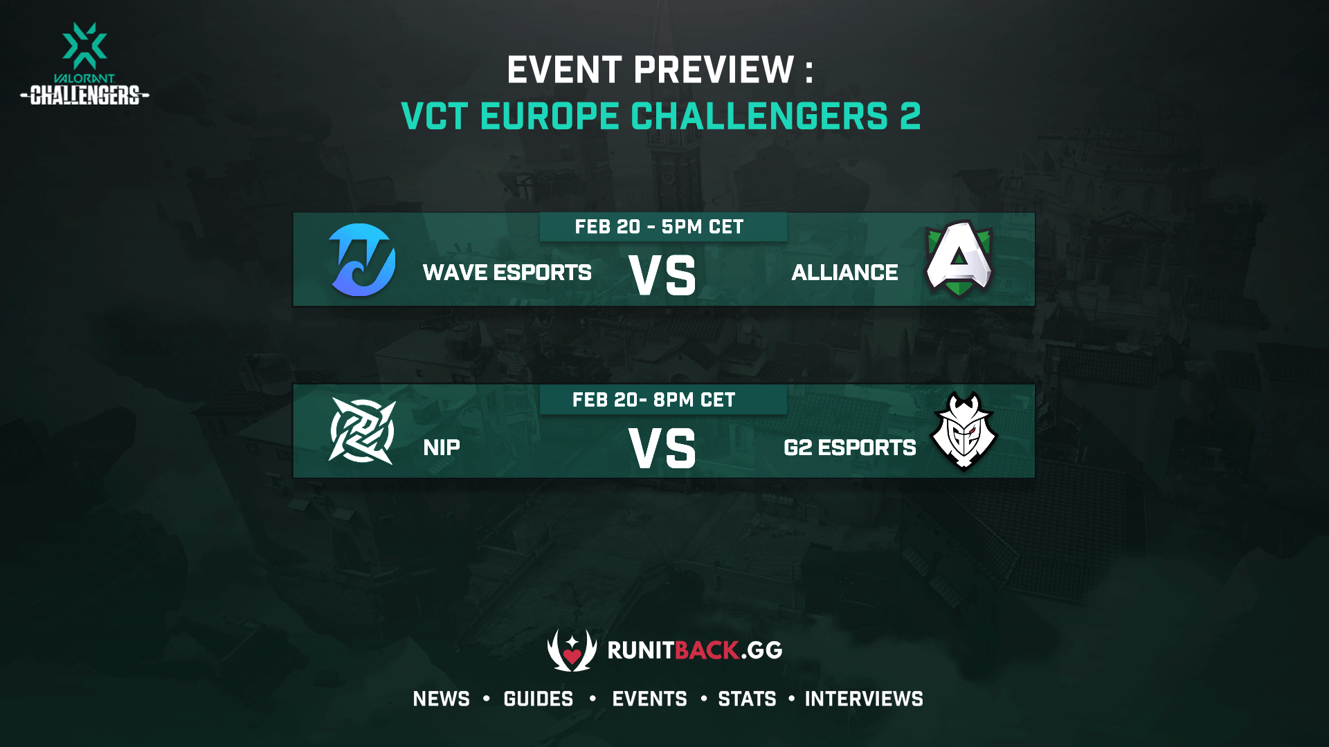 VCT Europe Challengers 2 Day 1 Preview: G2 seek revenge, Wave and Alliance clash