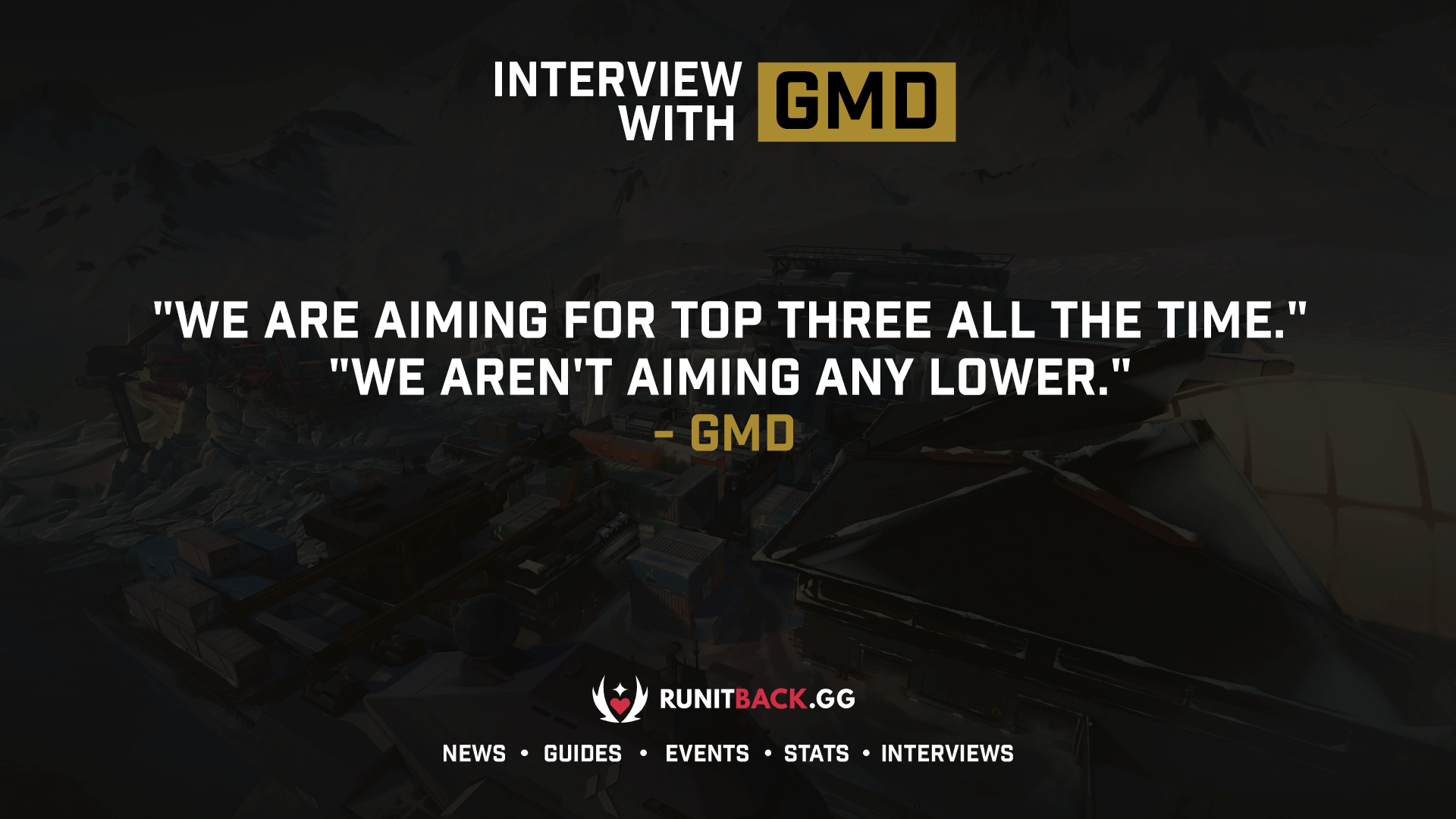 gMd is proud of his team and is aiming to be Top 3 NA