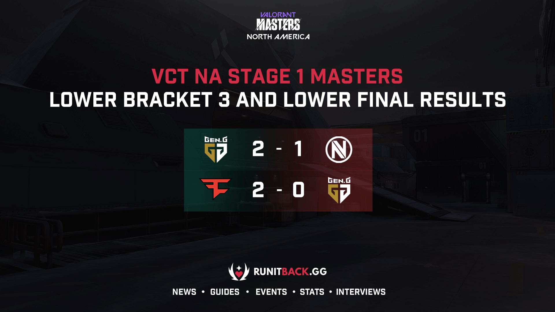 VCT NA Stage 1 Masters: Lower Round 3 and Lower Final