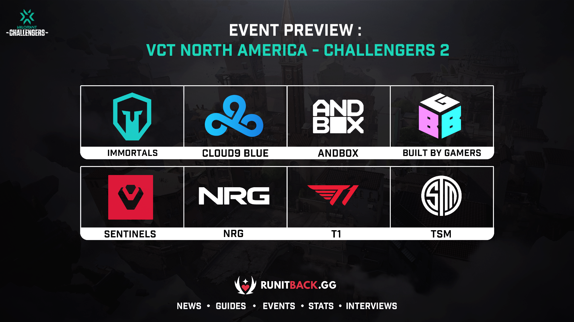 VCT NA Stage 2: Challengers 2 Main Event Preview