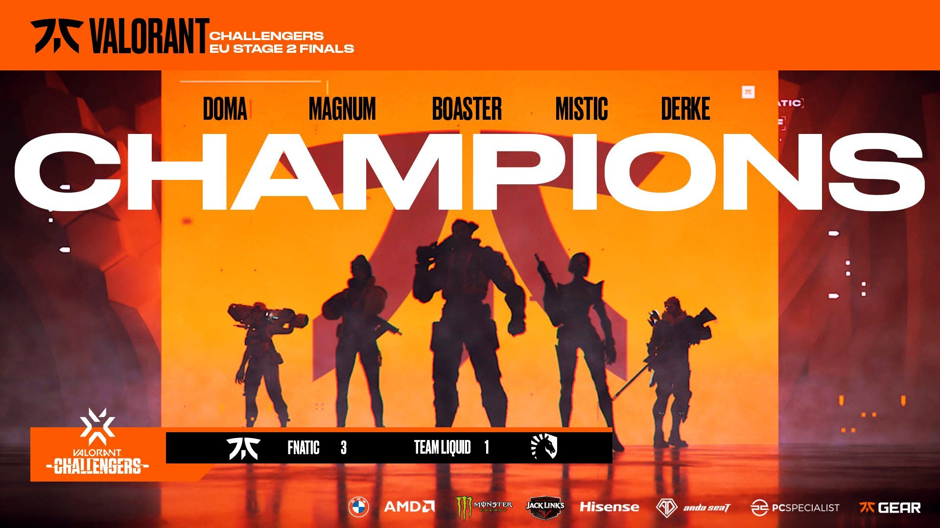 VCT Europe Challengers 2: Fnatic overcome Team Liquid in the grand final