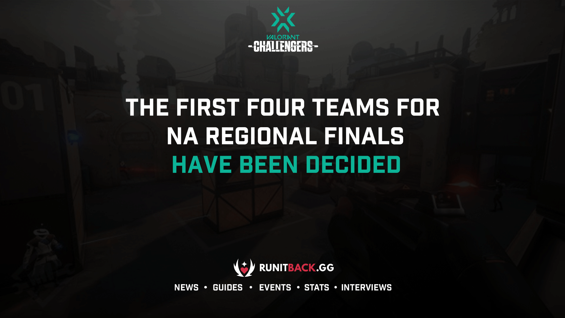 The first four teams for NA Regional Finals have been decided