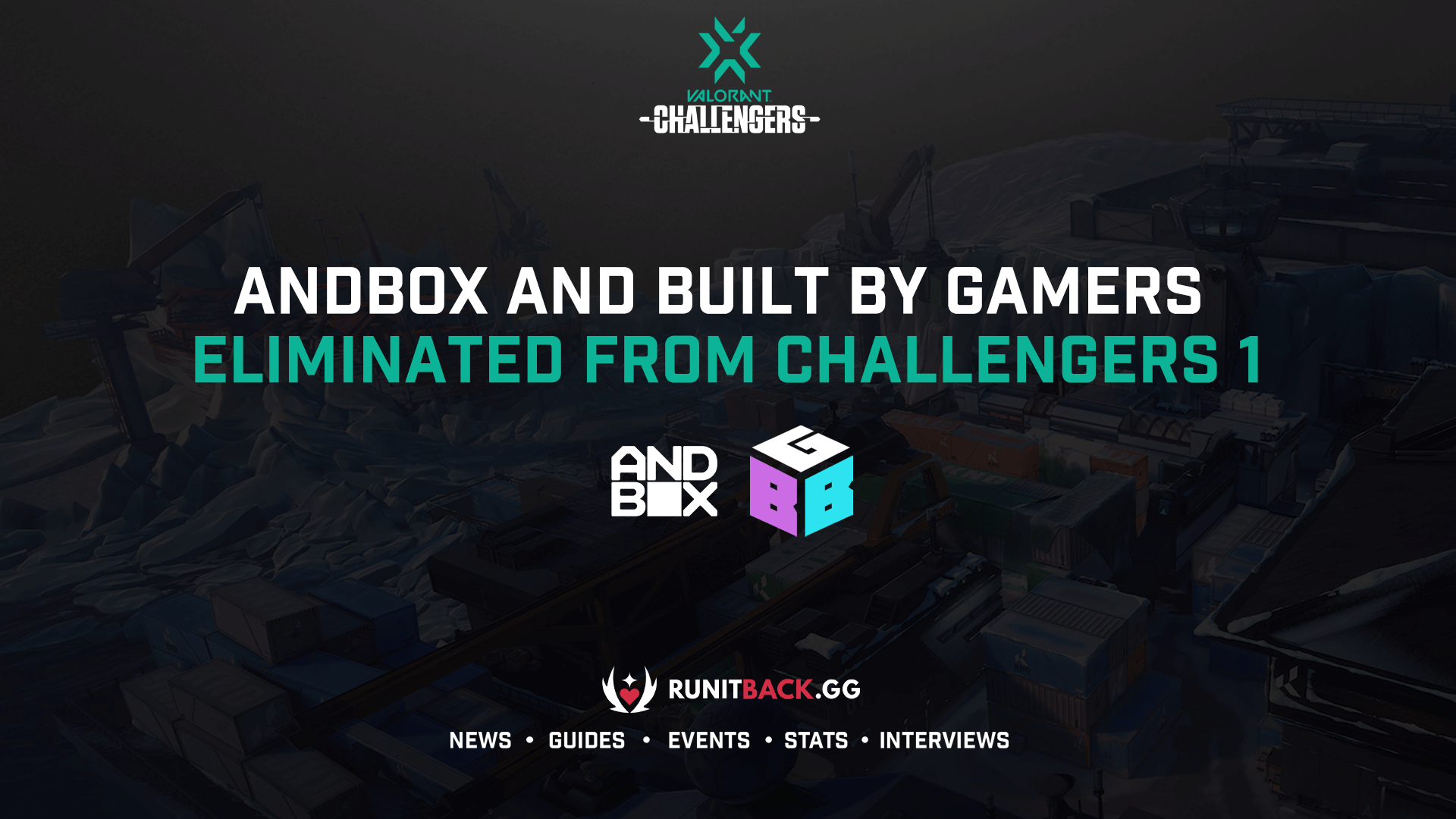 Andbox and Built by Gamers eliminated from Challengers 1 Main Event