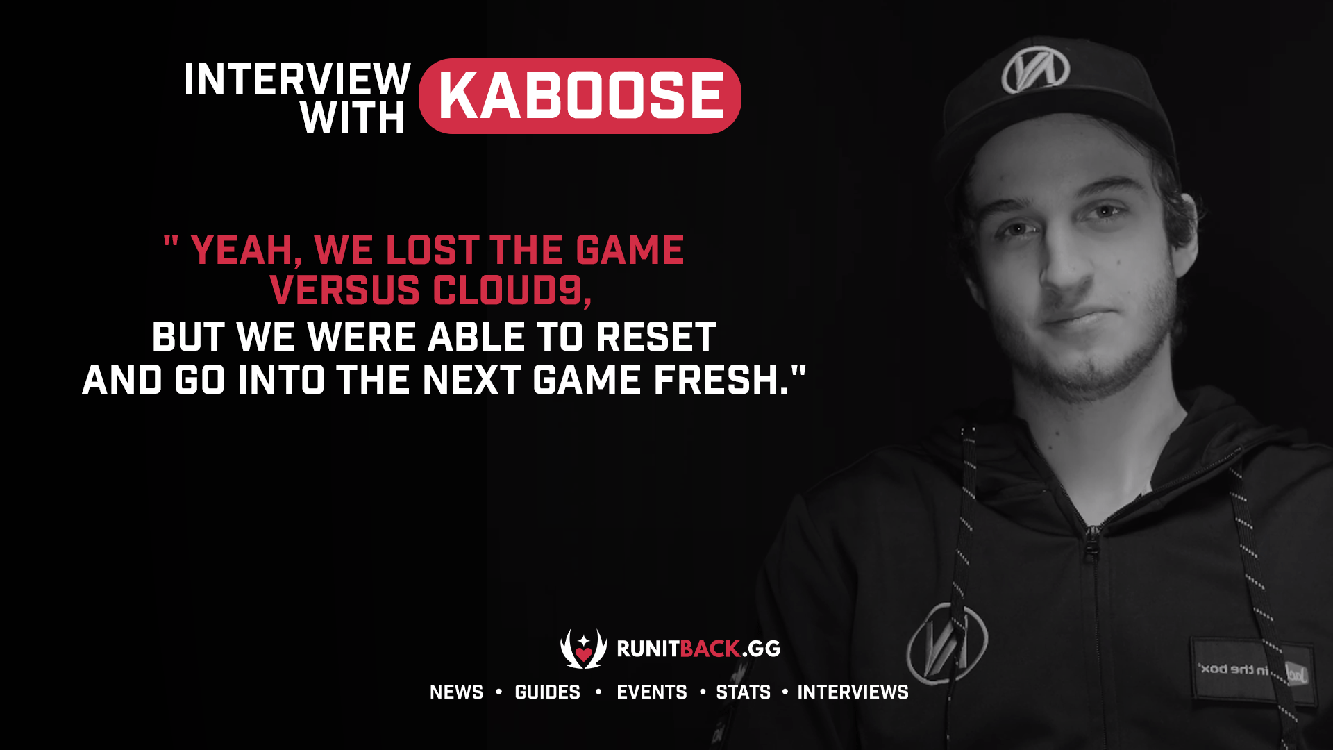 kaboose on resetting after Cloud9 loss and the team adjusting after each tournament