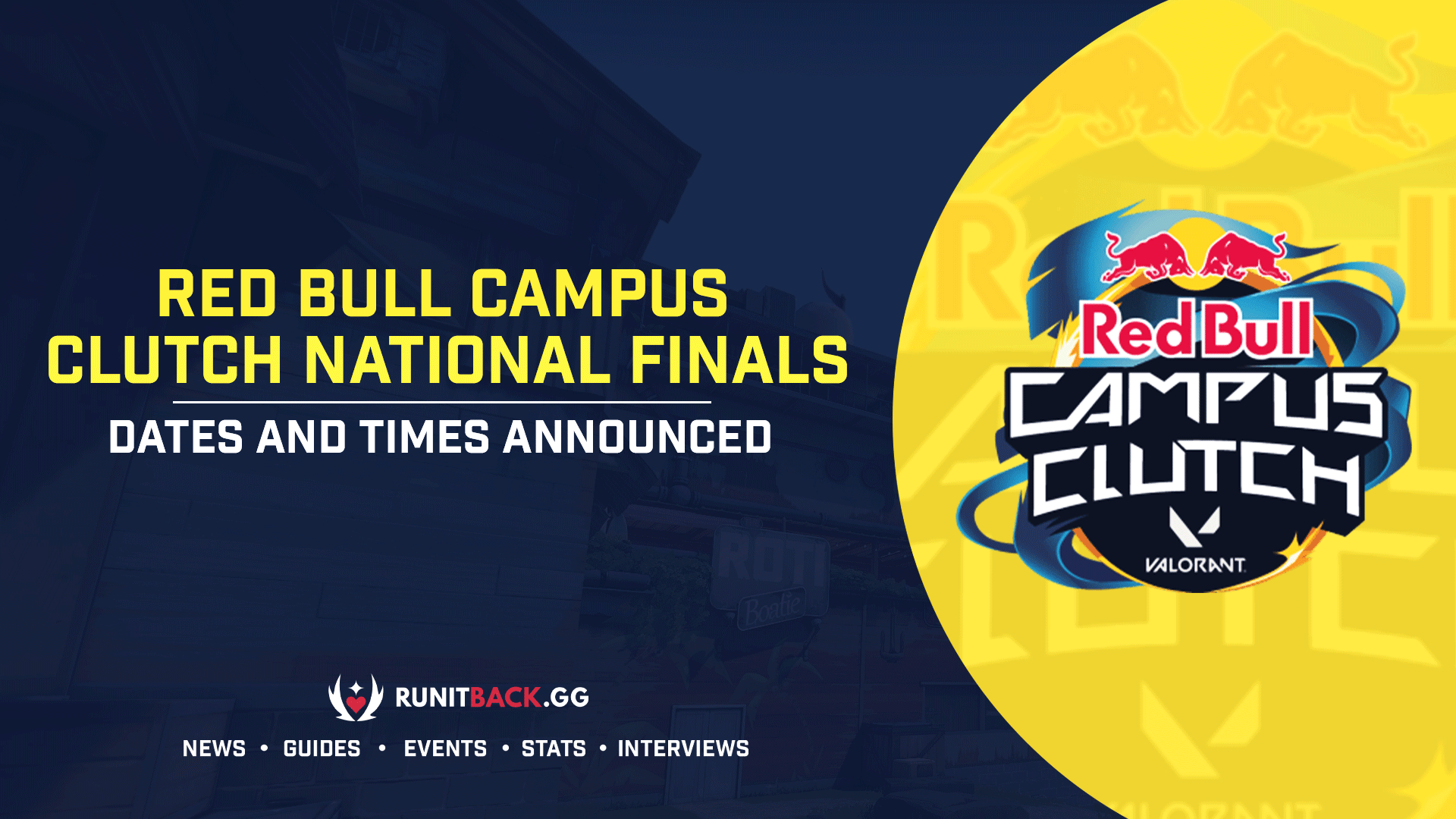 Red Bull announce dates and times for the Red Bull Campus Clutch National Finals