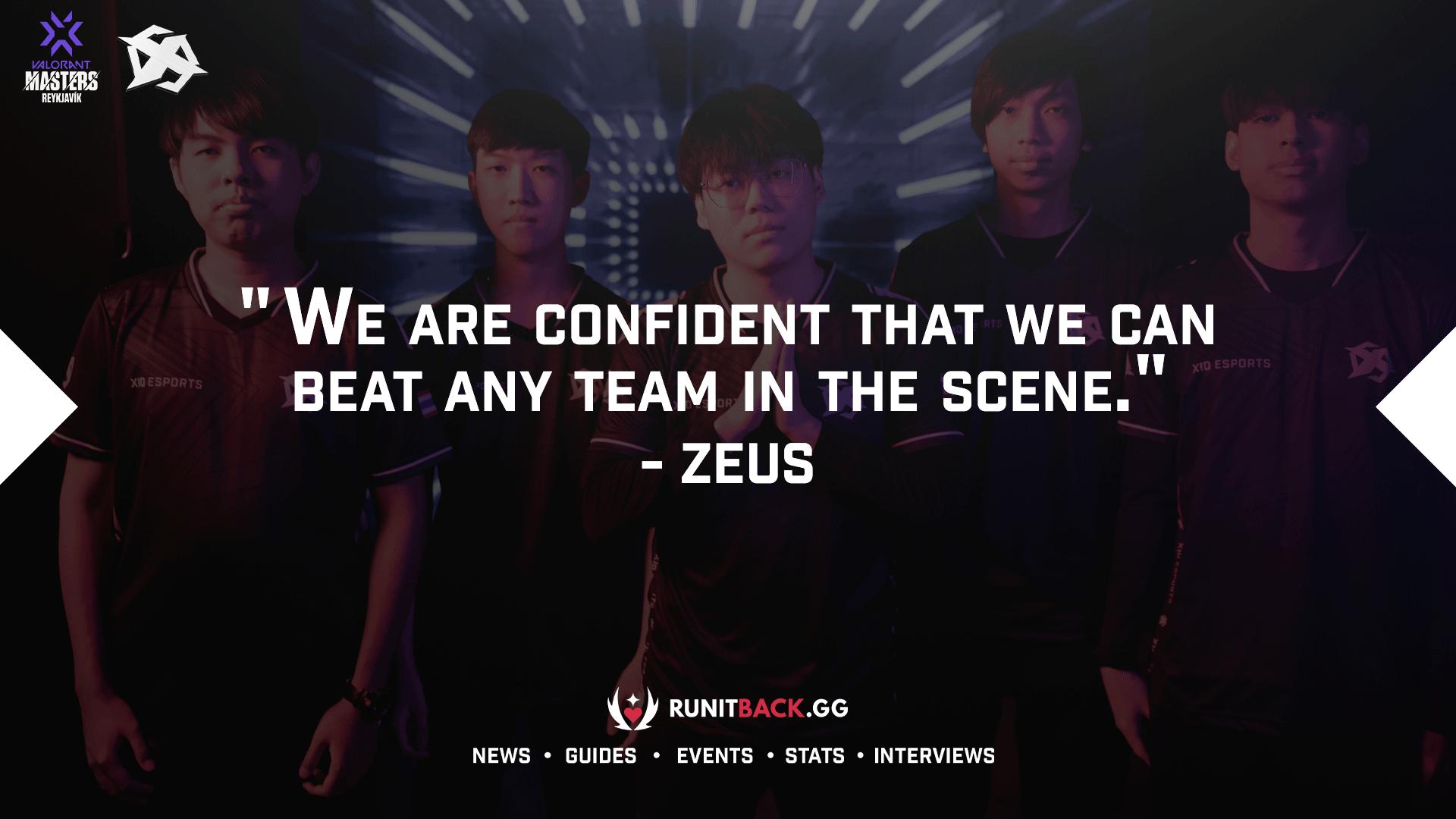 Zeus, coach of X10, on the team staying confident through their Lower Bracket run