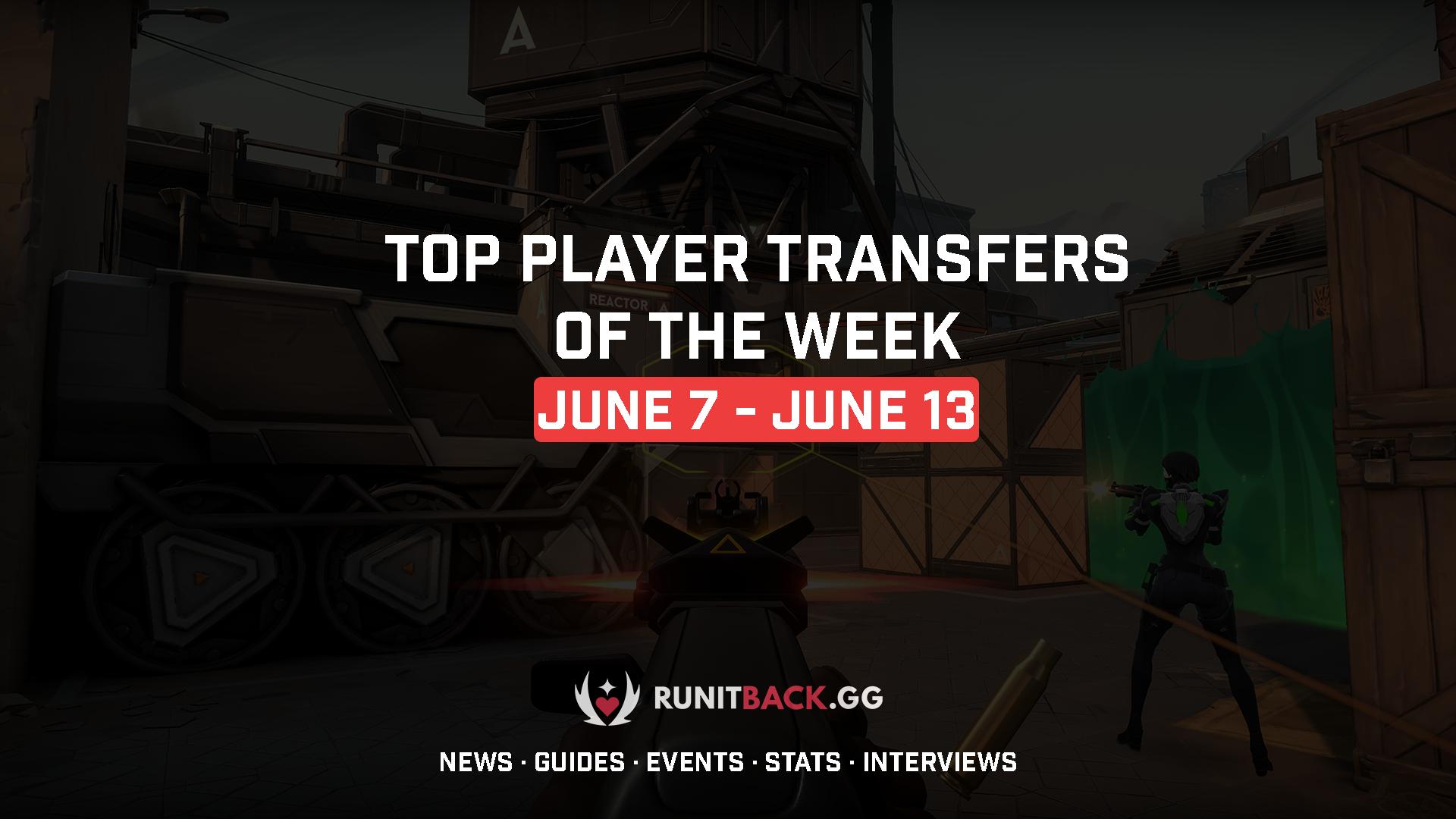 Top Player Transfers of the Week: June 7 – June 13