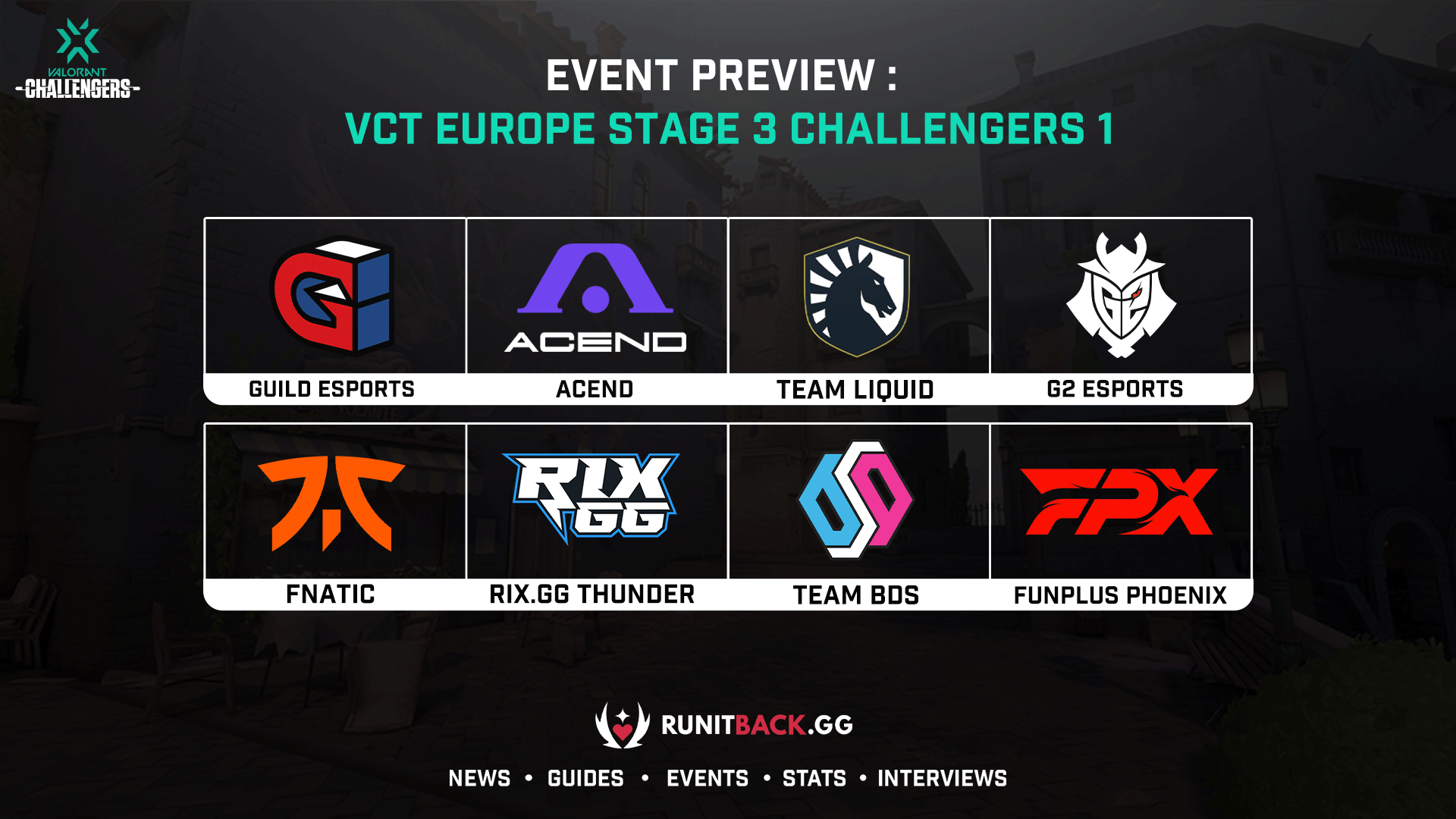 VCT Europe Stage 3 Challengers 1 Main Event Preview: Who Will Get Closer to Masters Berlin?