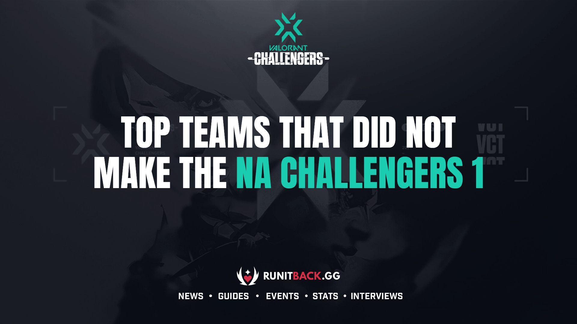 Top teams that did not make the NA Challengers 1 RO16