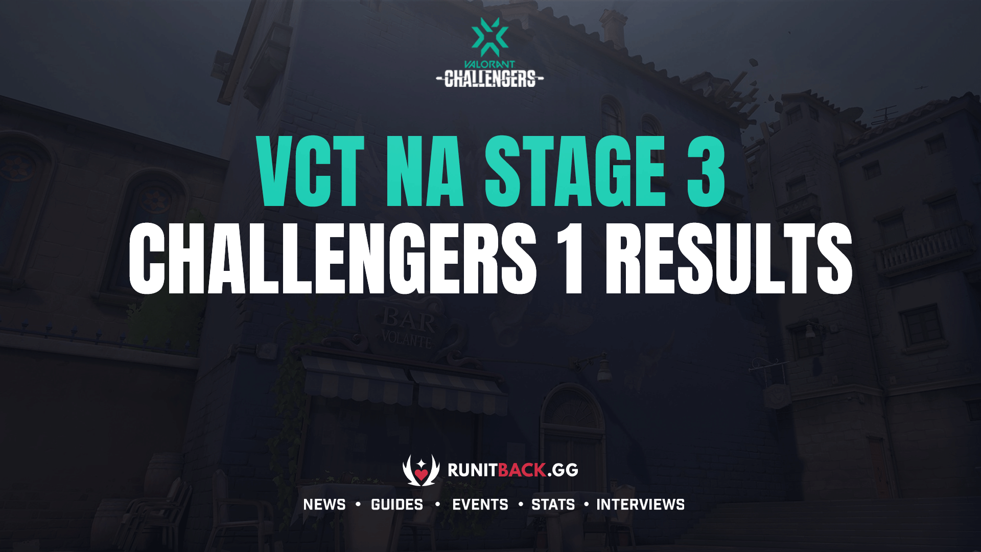 VCT NA Stage 3 Challengers 1 Main Event Results